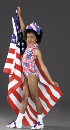American Flag Sleeveless Leotard