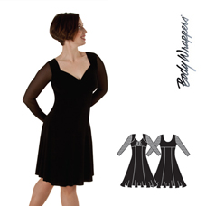 Bodywrappers Free Flo Dance Dress 7671
