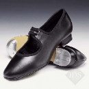 Low heel PU tap shoes with fitted toe and heel taps