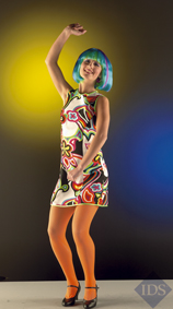 Multicoloured mini dress