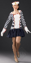 Sailor Girl Outfit (striped) - Adult One Size